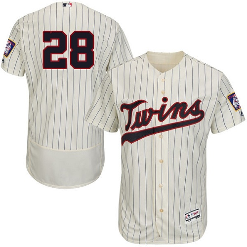 Men's Majestic Minnesota Twins #28 Bert Blyleven Authentic Cream Alternate Flex Base Authentic Collection MLB Jersey