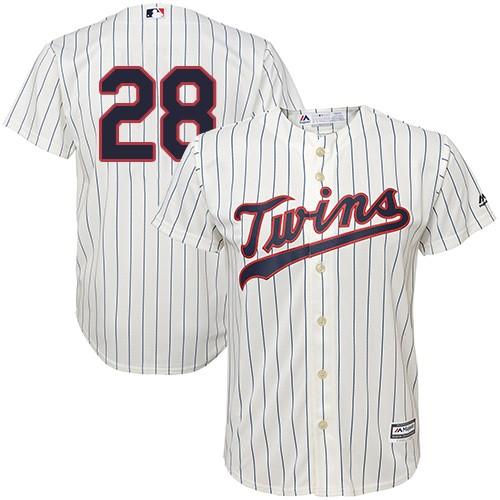 Men's Majestic Minnesota Twins #28 Bert Blyleven Replica Cream Alternate Cool Base MLB Jersey