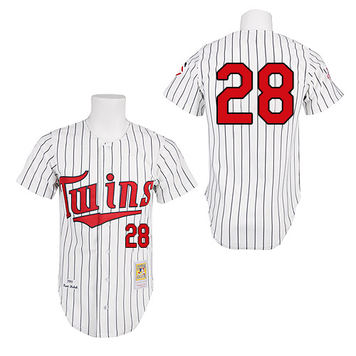 Men's Mitchell and Ness 1991 Minnesota Twins #28 Bert Blyleven Replica White Throwback MLB Jersey