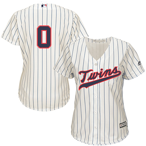Women's Majestic Minnesota Twins #0 Erick Aybar Replica Cream Alternate Cool Base MLB Jersey