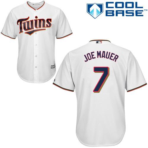 Women's Majestic Minnesota Twins #7 Joe Mauer Authentic White Home Cool Base MLB Jersey