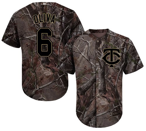 Youth Majestic Minnesota Twins #6 Tony Oliva Authentic Camo Realtree Collection Flex Base MLB Jersey