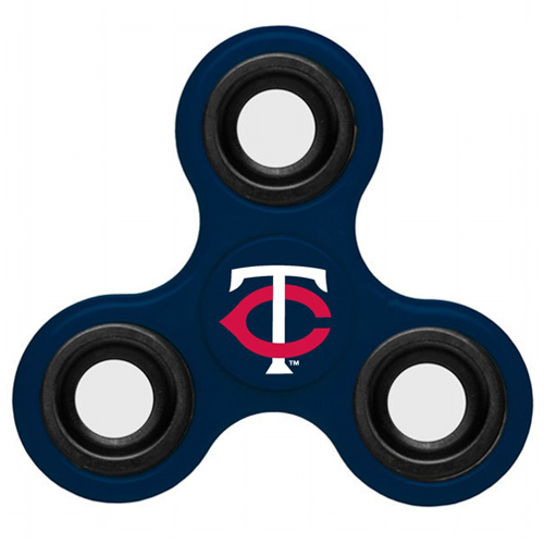 MLB Minnesota Twins 3 Way Fidget Spinner B40 - Navy