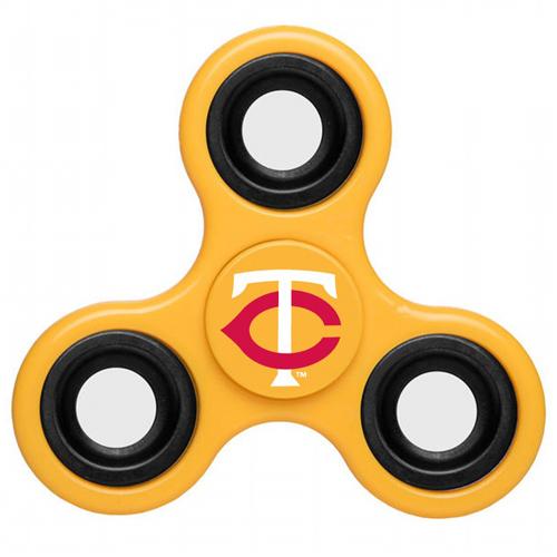 MLB Minnesota Twins 3 Way Fidget Spinner D40 - Yellow