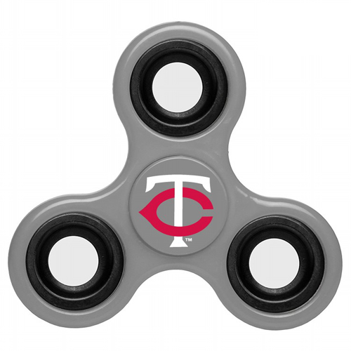 MLB Minnesota Twins 3 Way Fidget Spinner G40 - Gray