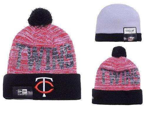 MLB Minnesota Twins Stitched Knit Beanies 016