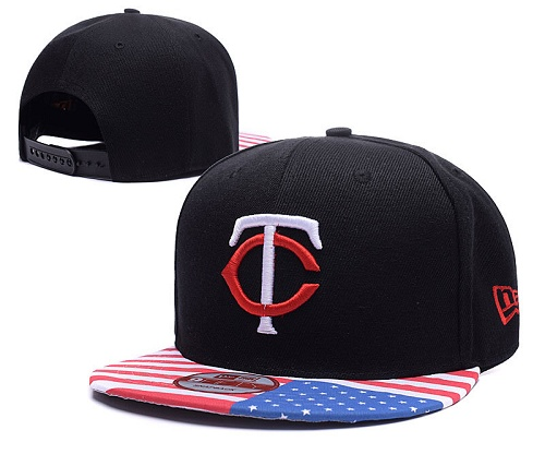 MLB Minnesota Twins Stitched Snapback Hats 012