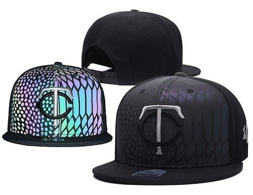 MLB Minnesota Twins Stitched Snapback Hats 015