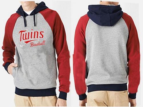 MLB Men's Nike Minnesota Twins Pullover Hoodie - Grey/Red
