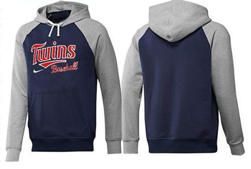 MLB Men's Nike Minnesota Twins Pullover Hoodie - Navy/Grey