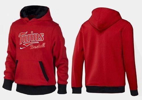 MLB Men's Nike Minnesota Twins Pullover Hoodie - Red/Black