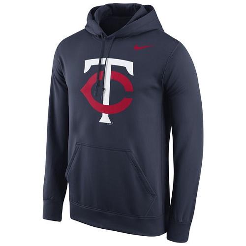 MLB Minnesota Twins Nike Logo Performance Pullover Hoodie - Navy