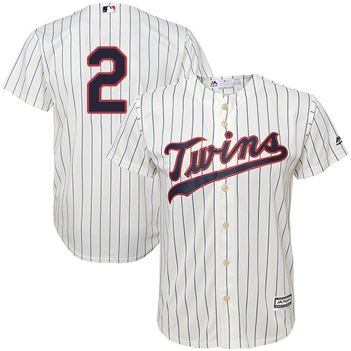 Men's Majestic Minnesota Twins #2 Brian Dozier Replica Cream Alternate Cool Base MLB Jersey