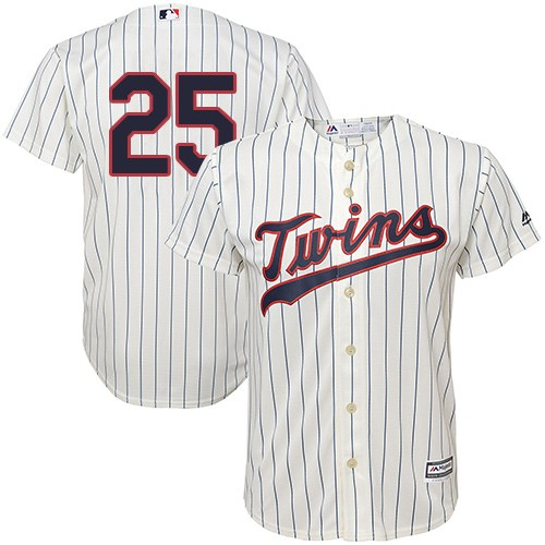 Men's Majestic Minnesota Twins #25 Byron Buxton Replica Cream Alternate Cool Base MLB Jersey