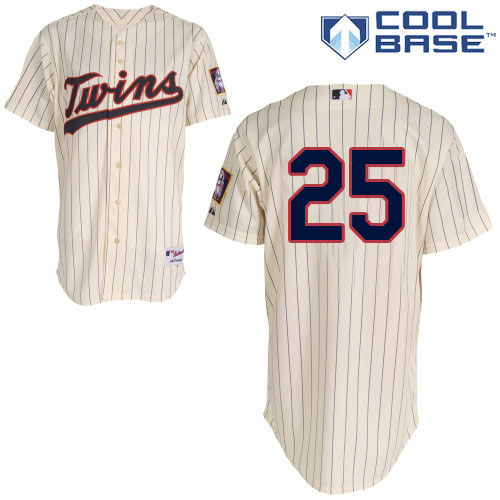 Women's Majestic Minnesota Twins #25 Byron Buxton Authentic Cream Alternate Cool Base MLB Jersey