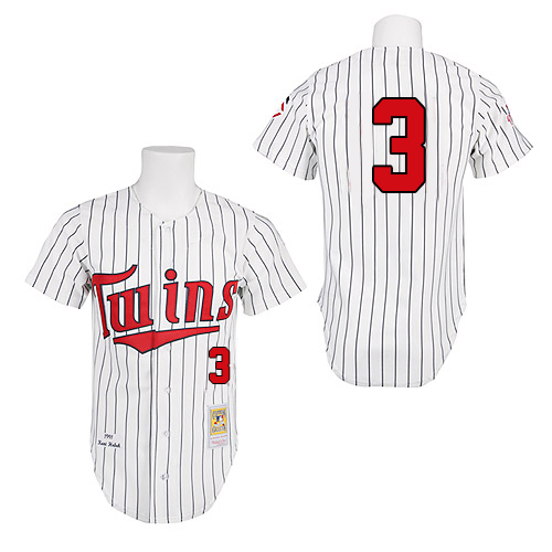 Men's Mitchell and Ness 1991 Minnesota Twins #3 Harmon Killebrew Replica White Throwback MLB Jersey