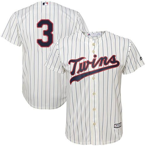 Youth Majestic Minnesota Twins #3 Harmon Killebrew Authentic Cream Alternate Cool Base MLB Jersey