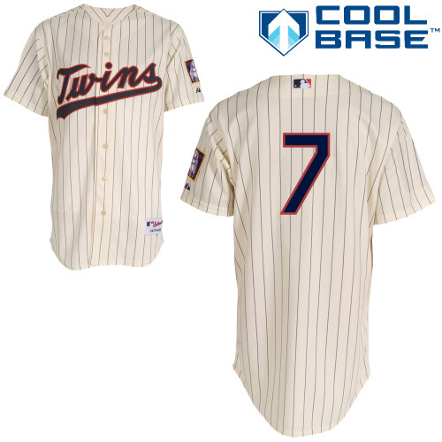 Women's Majestic Minnesota Twins #7 Joe Mauer Authentic Cream Alternate Cool Base MLB Jersey