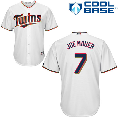 Women's Majestic Minnesota Twins #7 Joe Mauer Authentic White Home Cool Base MLB Jersey