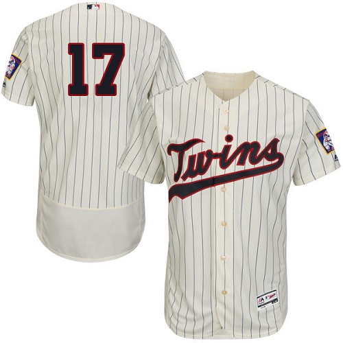 Men's Majestic Minnesota Twins #17 Jose Berrios Authentic Cream Alternate Flex Base Authentic Collection MLB Jersey