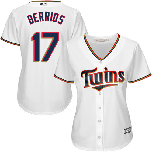 Women's Majestic Minnesota Twins #17 Jose Berrios Authentic White Home Cool Base MLB Jersey