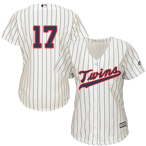 Women's Majestic Minnesota Twins #17 Jose Berrios Replica Cream Alternate Cool Base MLB Jersey