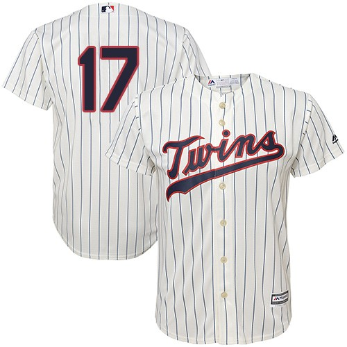 Youth Majestic Minnesota Twins #17 Jose Berrios Replica Cream Alternate Cool Base MLB Jersey