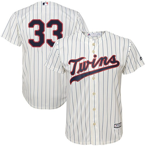 Men's Majestic Minnesota Twins #33 Justin Morneau Replica Cream Alternate Cool Base MLB Jersey