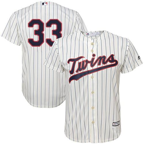 Youth Majestic Minnesota Twins #33 Justin Morneau Authentic Cream Alternate Cool Base MLB Jersey