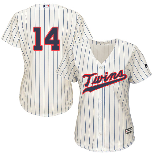 Women's Majestic Minnesota Twins #14 Kent Hrbek Authentic Cream Alternate Cool Base MLB Jersey