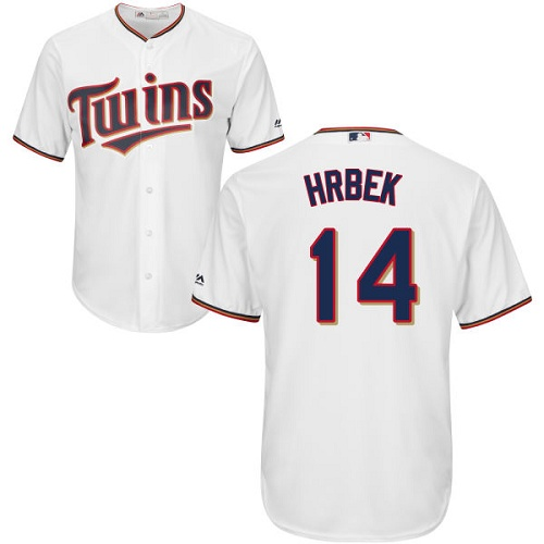 Youth Majestic Minnesota Twins #14 Kent Hrbek Authentic White Home Cool Base MLB Jersey