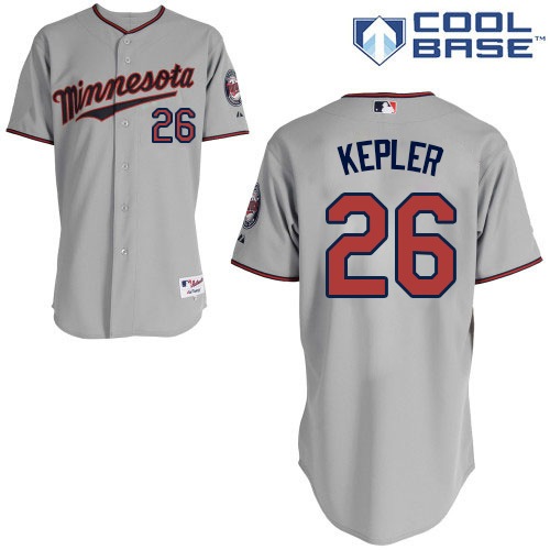Men's Majestic Minnesota Twins #26 Max Kepler Authentic Grey Road Cool Base MLB Jersey