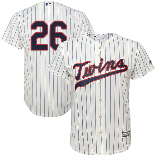 Youth Majestic Minnesota Twins #26 Max Kepler Authentic Cream Alternate Cool Base MLB Jersey