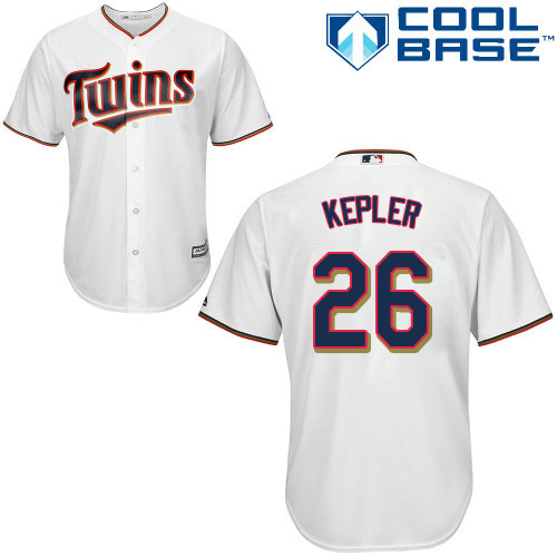 Youth Majestic Minnesota Twins #26 Max Kepler Replica White Home Cool Base MLB Jersey