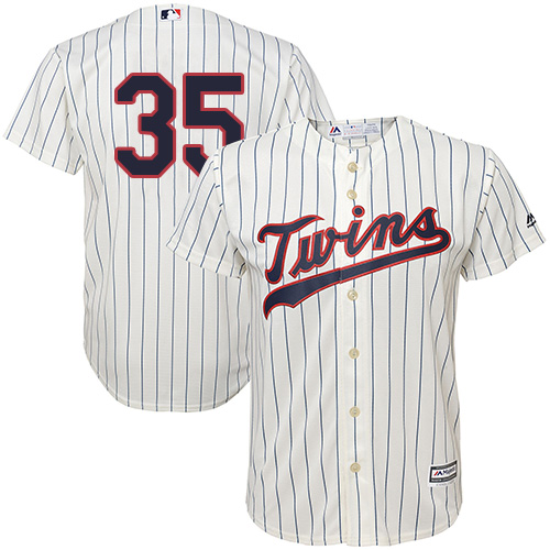 Youth Majestic Minnesota Twins #35 Michael Pineda Replica Cream Alternate Cool Base MLB Jersey