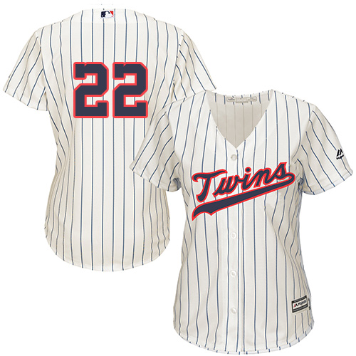 Women's Majestic Minnesota Twins #22 Miguel Sano Replica Cream Alternate Cool Base MLB Jersey
