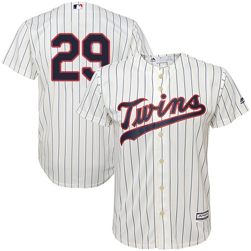 Men's Majestic Minnesota Twins #29 Rod Carew Replica Cream Alternate Cool Base MLB Jersey