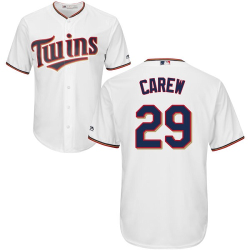Youth Majestic Minnesota Twins #29 Rod Carew Authentic White Home Cool Base MLB Jersey