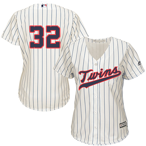 Women's Majestic Minnesota Twins #32 Zach Duke Replica Cream Alternate Cool Base MLB Jersey