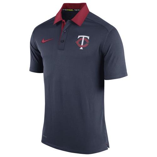 MLB Men's Minnesota Twins Nike Navy Authentic Collection Dri-FIT Elite Polo