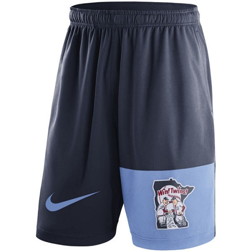MLB Men's Minnesota Twins Nike Navy Cooperstown Collection Dry Fly Shorts