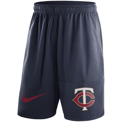 MLB Men's Minnesota Twins Nike Navy Dry Fly Shorts