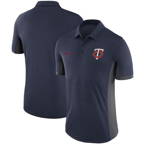 MLB Men's Minnesota Twins Nike Navy Franchise Polo T-Shirt