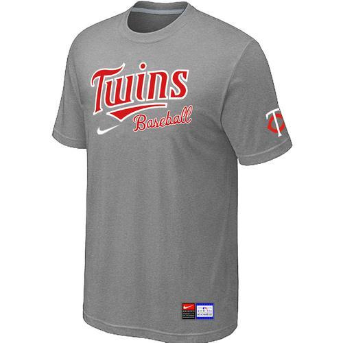 MLB Men's Minnesota Twins Nike Practice T-Shirt - Grey