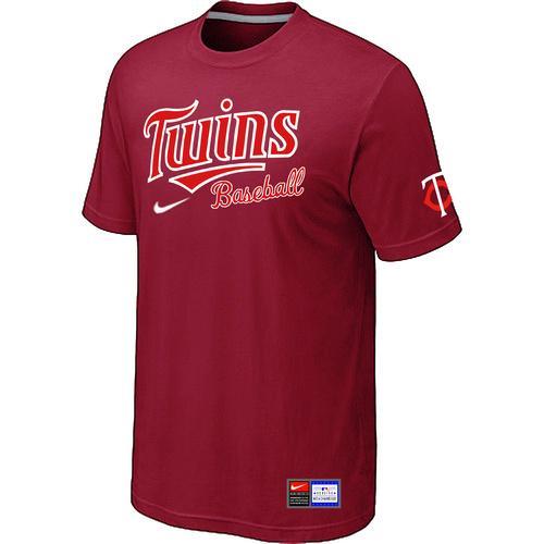 MLB Men's Minnesota Twins Nike Practice T-Shirt - Red