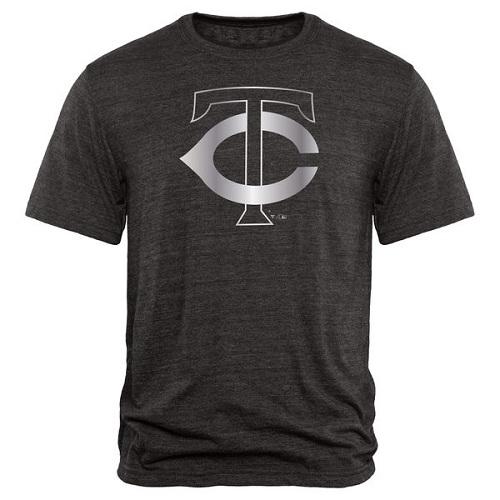 MLB Minnesota Twins Fanatics Apparel Platinum Collection Tri-Blend T-Shirt - Black