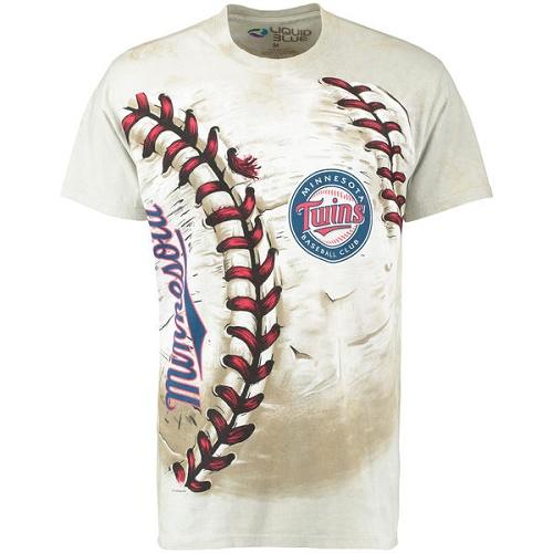MLB Minnesota Twins Hardball Tie-Dye T-Shirt - Cream