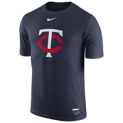 MLB Minnesota Twins Nike Authentic Collection Legend Logo 1.5 Performance T-Shirt - Navy