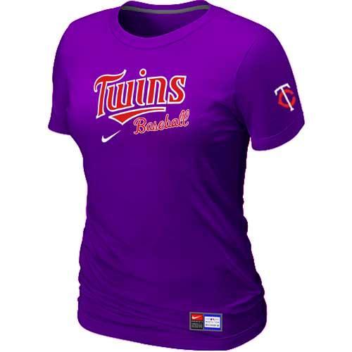 MLB Women's Minnesota Twins Nike Practice T-Shirt - Purple