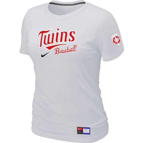 MLB Women's Minnesota Twins Nike Practice T-Shirt - White